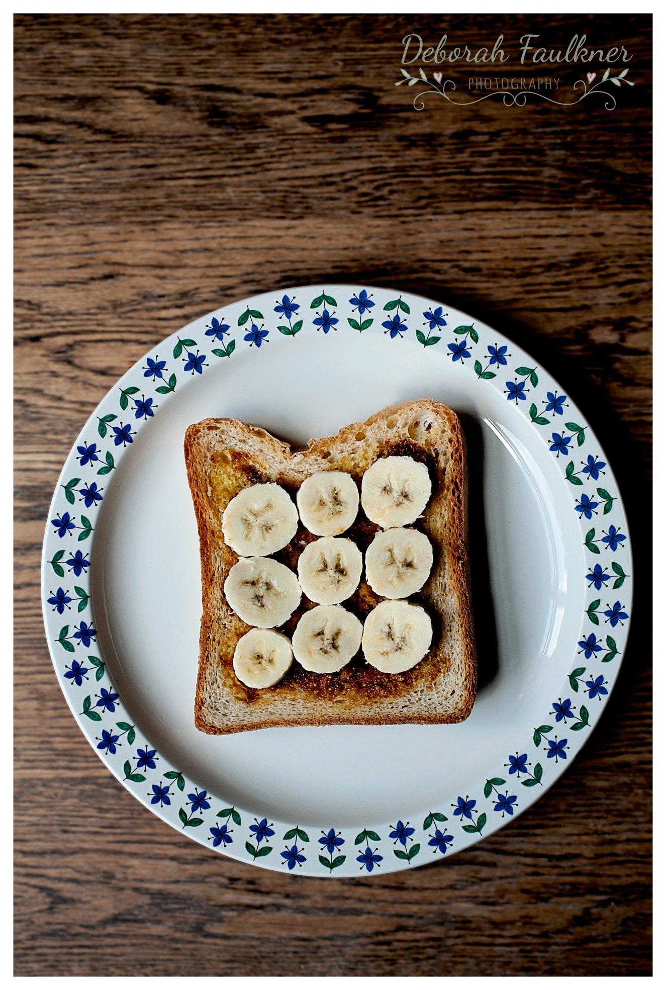 Banana and Marmite on Toast