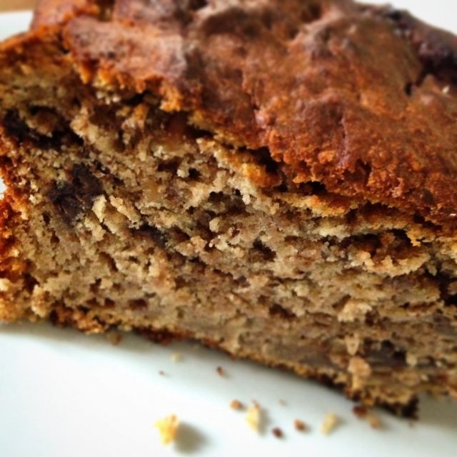 Banana PB Choc Chip loaf